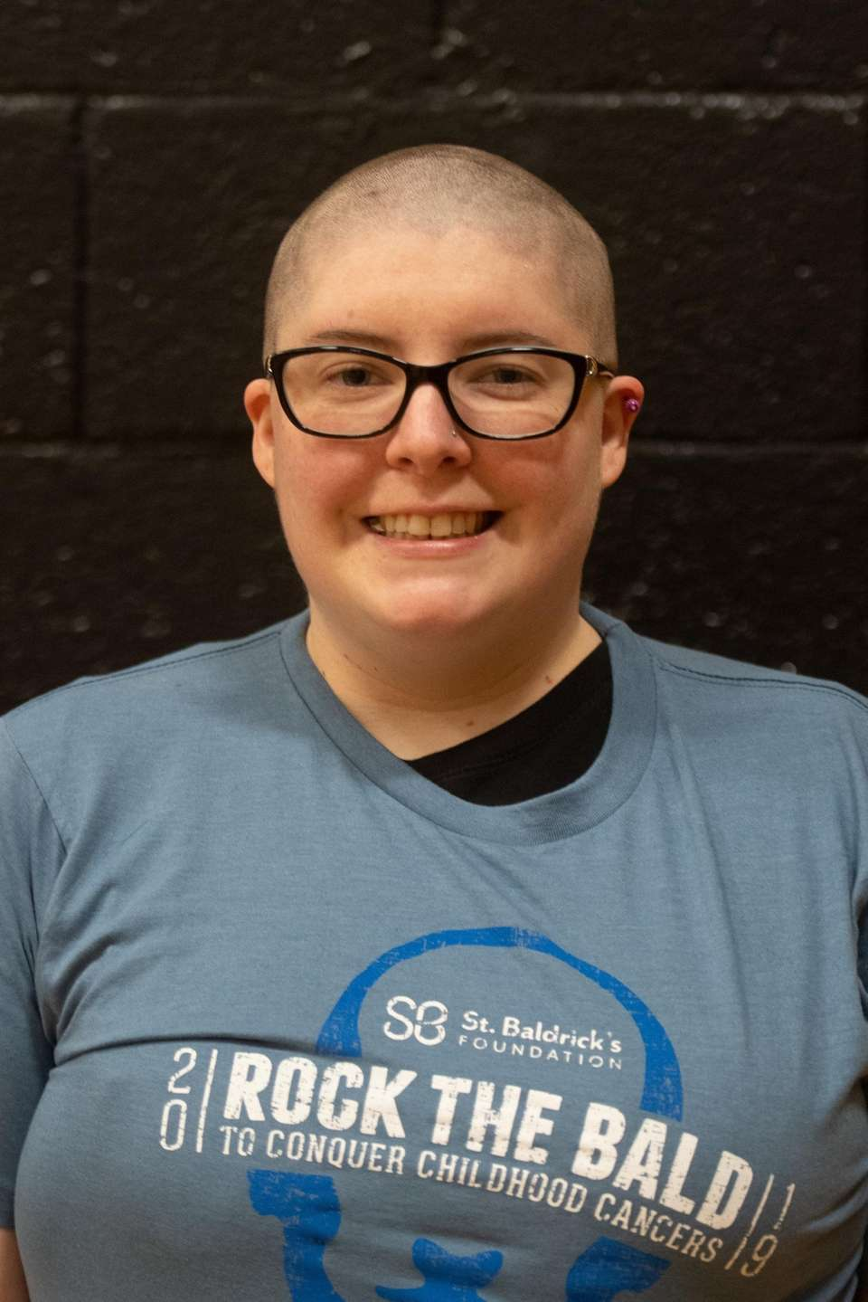 Meghan McVetty shows off her shaved head March