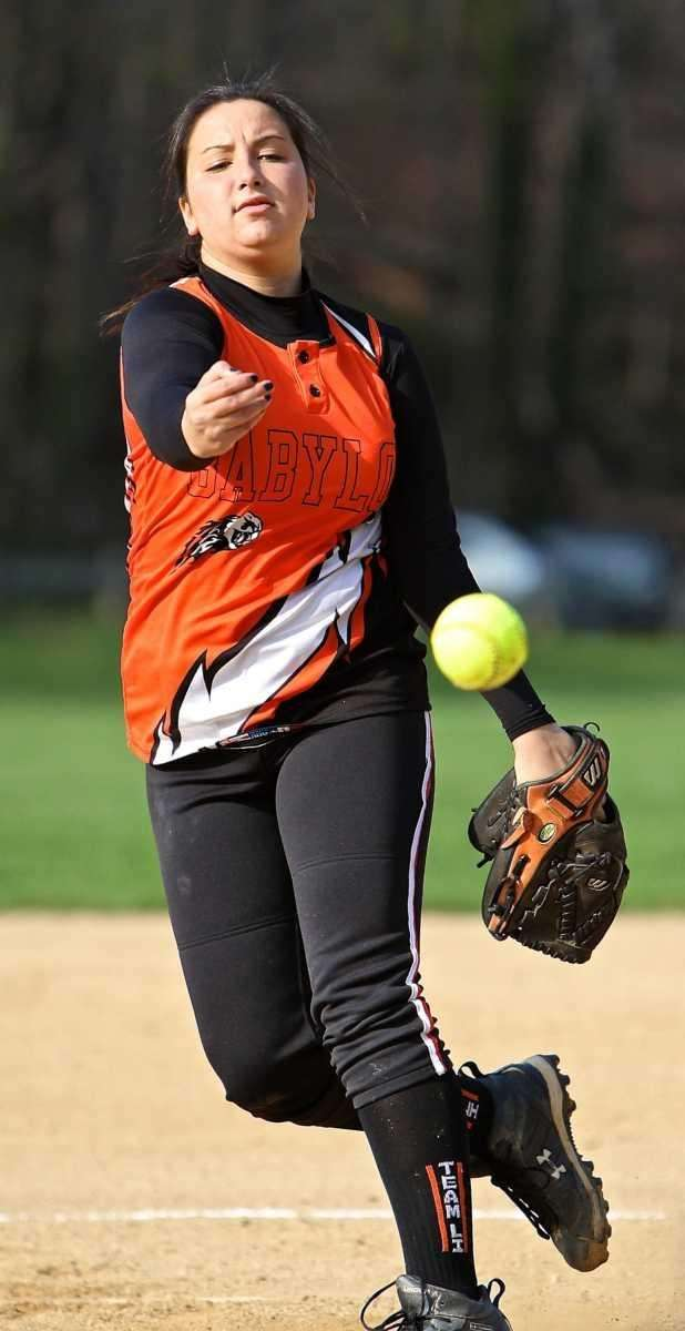 Babylon starting pitcher #5 Tiana Giuliano. (April 15,