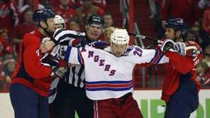Bryan McCabe #28 of the New York Rangers