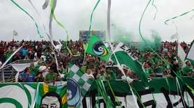 Cosmos fans cheer before a game against New