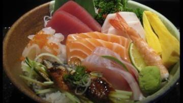 Chirashi at Sakaya, a Japanese restaurant in Albertson.