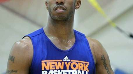 Chauncey Billups during the teams workout in preparation