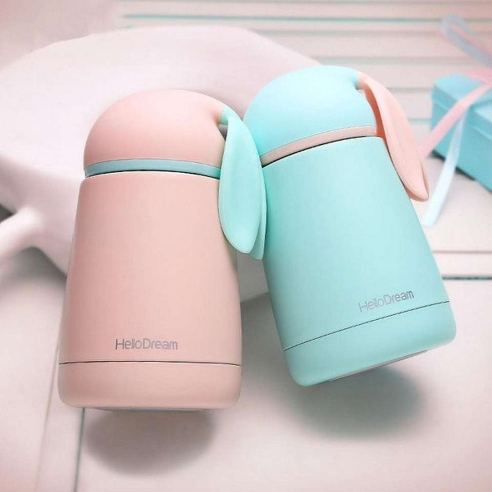 This insulated bottle comes in three pastel colors