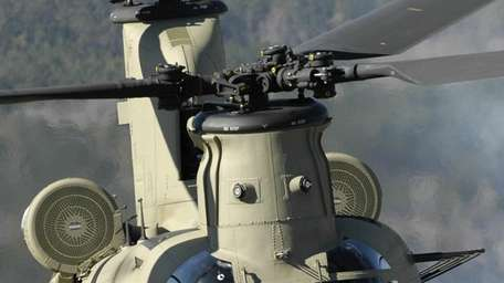 U.S. Army CH-47 Chinook helicopter.