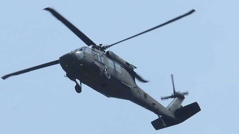 A Blackhawk helicopter, which is being used by
