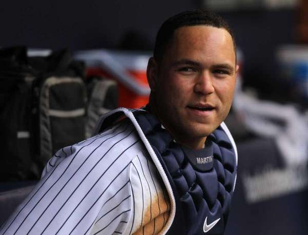 Russell Martin of the New York Yankees looks