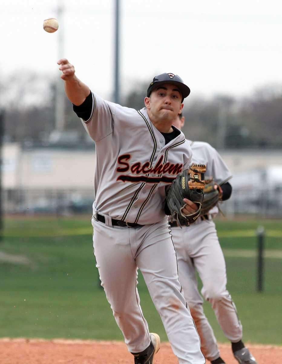 Sachem North second baseman Mike Scarlato makes a