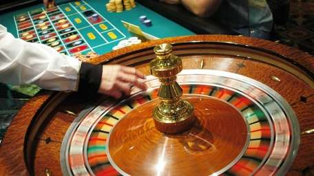 The roulette wheel spins at Caesars Atlantic City