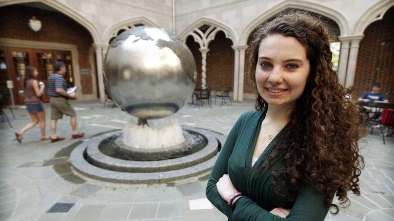 Caroline Trezza in the courtyard of the Carole