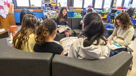 Fifth-graders at Northside Elementary School in Levittown gather