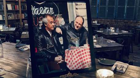 A signed photograph of The Sopranos stars James