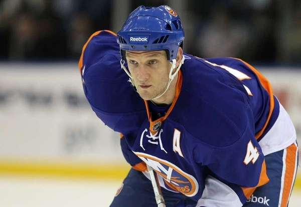 Islanders defenseman Mark Eaton missed 13 games with