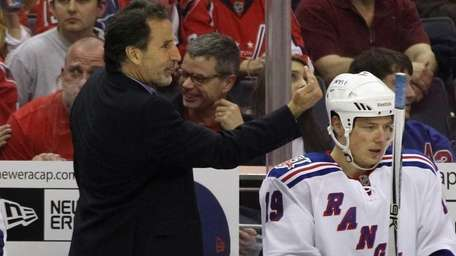 Rangers head coach John Tortorella signals players late