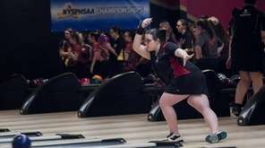 East Islip's Julianna Spina competes in the NYSPHSAA