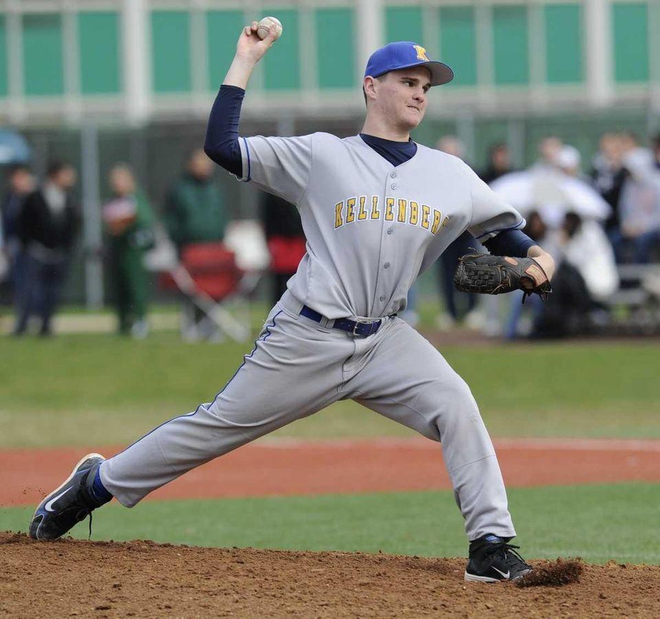 Kellenberg starting pitcher Tim Deegan delivers to the