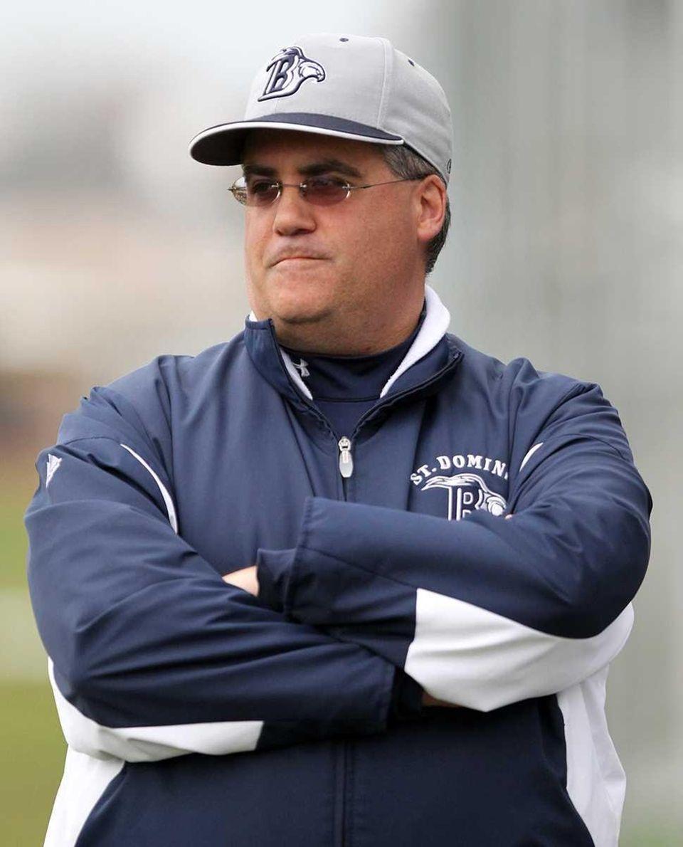 St Dominic's varsity baseball head coach Rick Garrett.