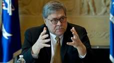 Attorney General William Barr speaks during a roundtable