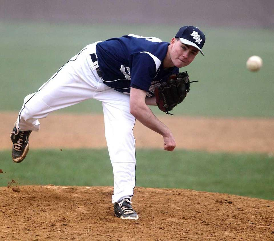 Eastport reliever Dave Griffiths pitches in the bottom