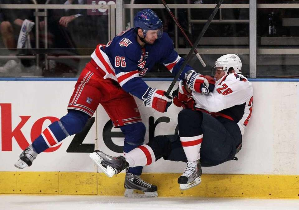Wojtek Wolski #86 of the New York Rangers