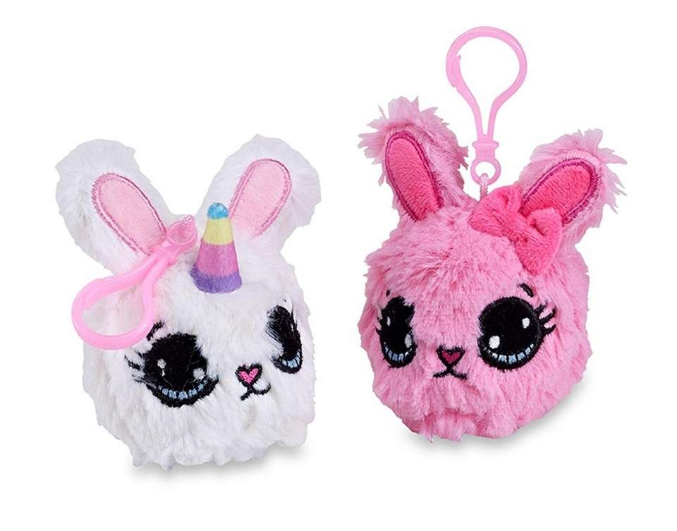 This unicorn or bunny plush squishy keychain smells