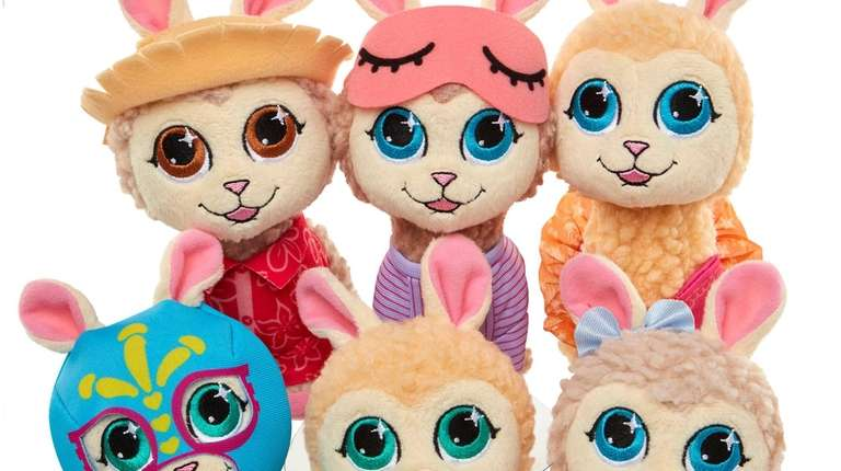 These plush 6-inch tall llamas come in a