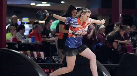 Taylor Eggert rolled nine consecutive strikes in a