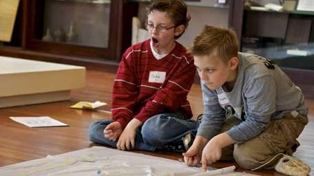 Jake Corso, 10, left, and Shane Finkelstein, 8,