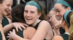Maggie Long embraces Natalie Stark as Holy Trinity