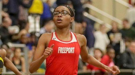 Alexandria Yarbrou of Freeport wins the Girls 55