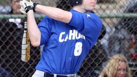 Calhoun's Thomas Viverito cracks a double during a