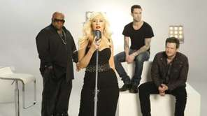 "The judges from ""The Voice"" are, from left,"
