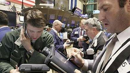 Trading on the floor of the New York
