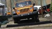 The Jeep Wrangler Rubicon Unlimited makes its way
