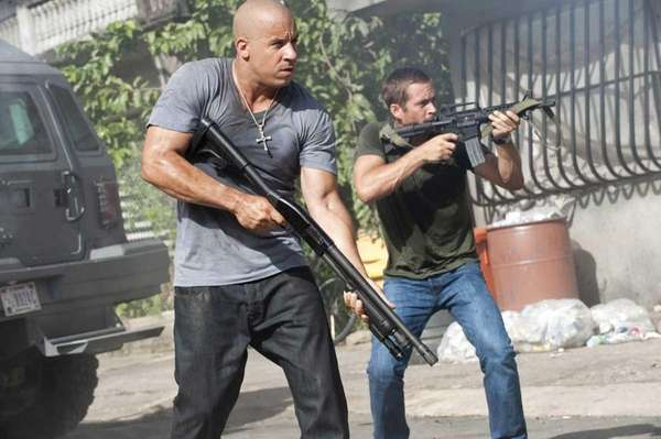 Brian O' Conner (Paul Walker) and Dom Toretto