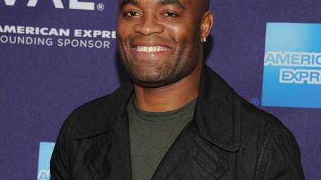 UFC middleweight champion Anderson Silva attends the premiere