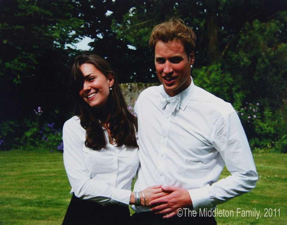 Prince William and Kate Middleton after their graduation
