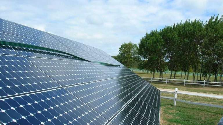 One of Long Island's largest solar-energy installations, encompassing