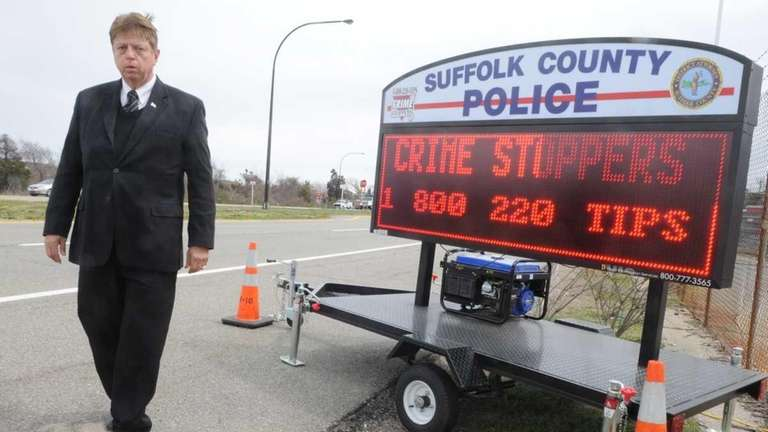 Nick Amarr, Suffolk County Crime Stoppers president, stands