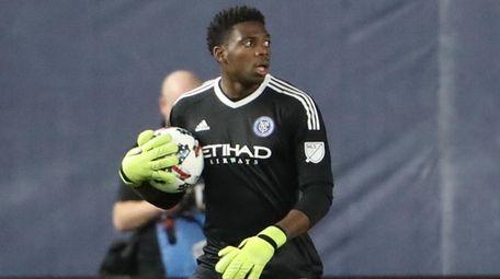 New York City FC goalkeeper Sean Johnson #1