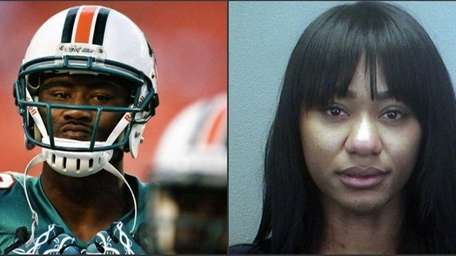 Authorities said the wife of Brandon Marshall stabbed