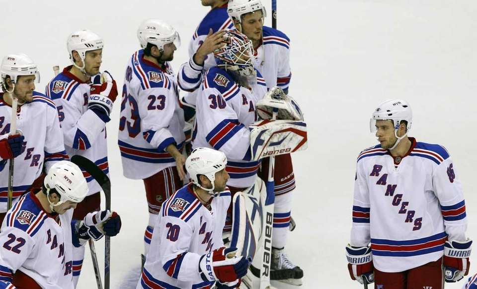 New York Rangers react around New York Rangers