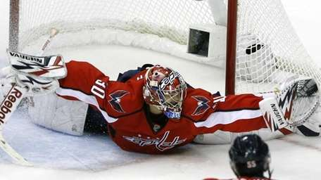Washington Capitals goalie Michal Neuvirth, the Czech Republic,