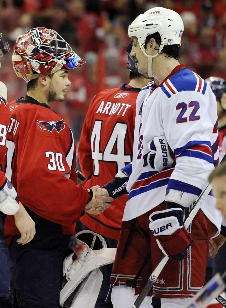 Washington Capitals goalie Michal Neuvirth (30), of the