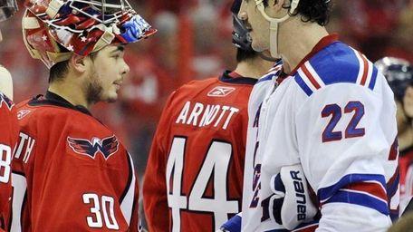 Washington Capitals goalie Michal Neuvirth (30), of the