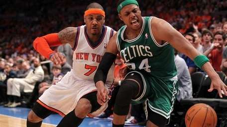 Carmelo Anthony and Paul Pierce
