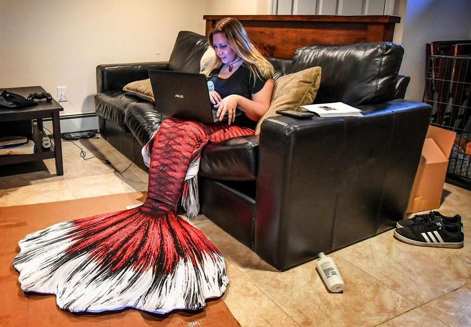 In every day life, Mary Grecco, whose mermaid