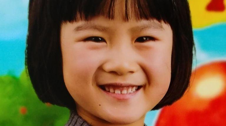 Xiaoyan Liu, a kindergartner at Parkville Elementary School