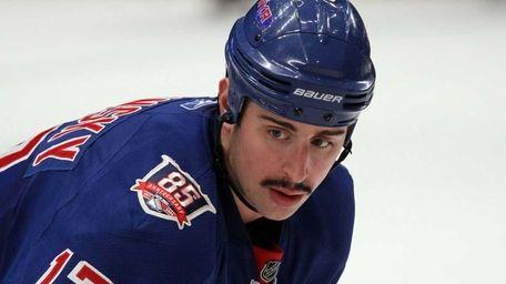BRANDON DUBINSKY, Rangers Dubinsky dropped down from a