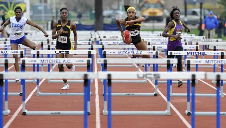 Uniondale's Brittney Webley, second from the right, on