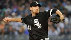 White Sox starter Philip Humber throws in the